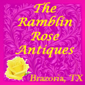 Ad for The Ramblin Rose Antiques
